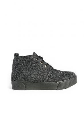 Art Goya Hakiki Kaşmir Bayan Sneaker 659502 Серый