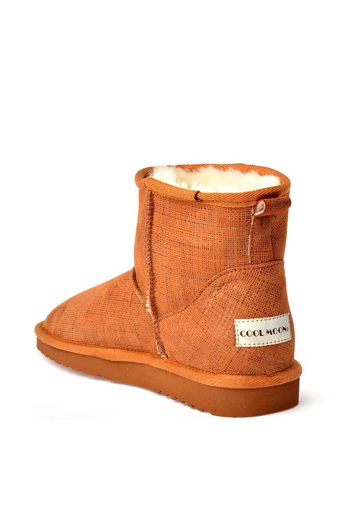 Cool Moon Patterned Women Boots From Genuine Fur 990159 Ginger
