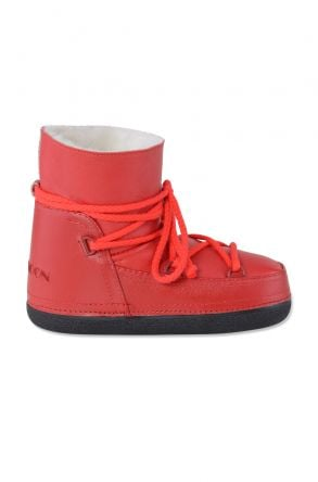 Cool Moon Genuine Sheepskin Women Snow Boots 251001 Red
