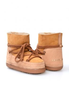 Cool Moon Genuine Sheepskin Women Snow Boots 251001 Sand-colored