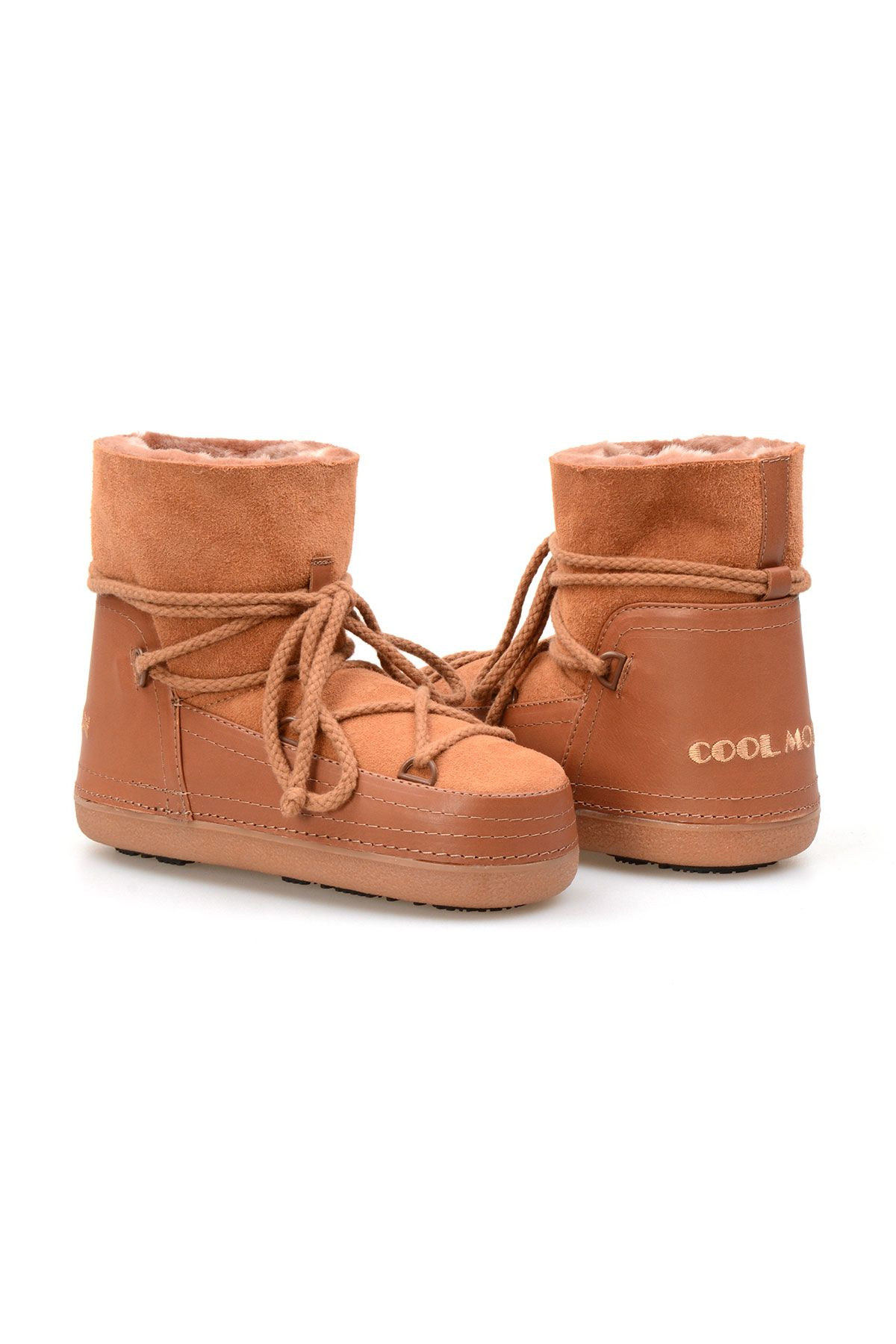 Cool Moon Genuine Sheepskin Women Snow Boots 251001 Ginger