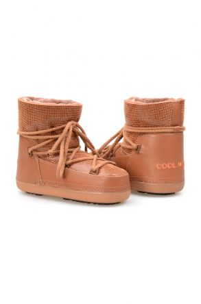 Cool Moon Genuine Sheepskin Women Snow Boots 251117 Ginger