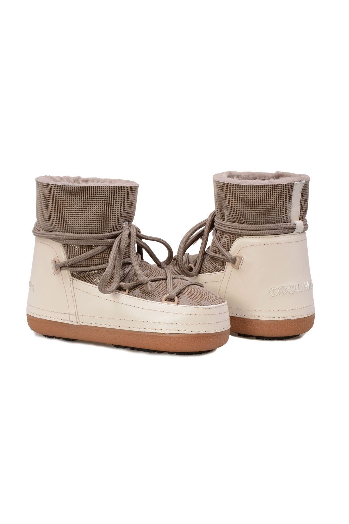 Cool Moon Genuine Sheepskin Women Snow Boots 251117 Sand-colored