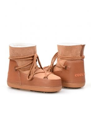 Cool Moon Genuine Sheepskin Women Snow Boots 251118 Ginger