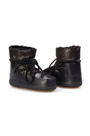 Cool Moon Genuine Sheepskin Women Snow Boots 251120 Black
