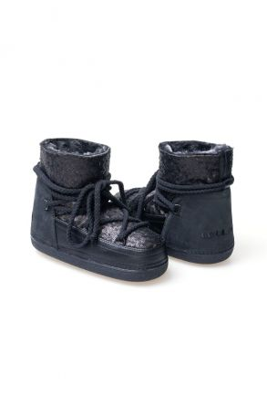 Cool Moon Genuine Sheepskin Women's Snow Boots 251004 Black