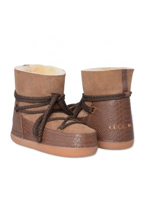 Cool Moon Genuine Sheepskin Women's Snow Boots 251010 Light Brown