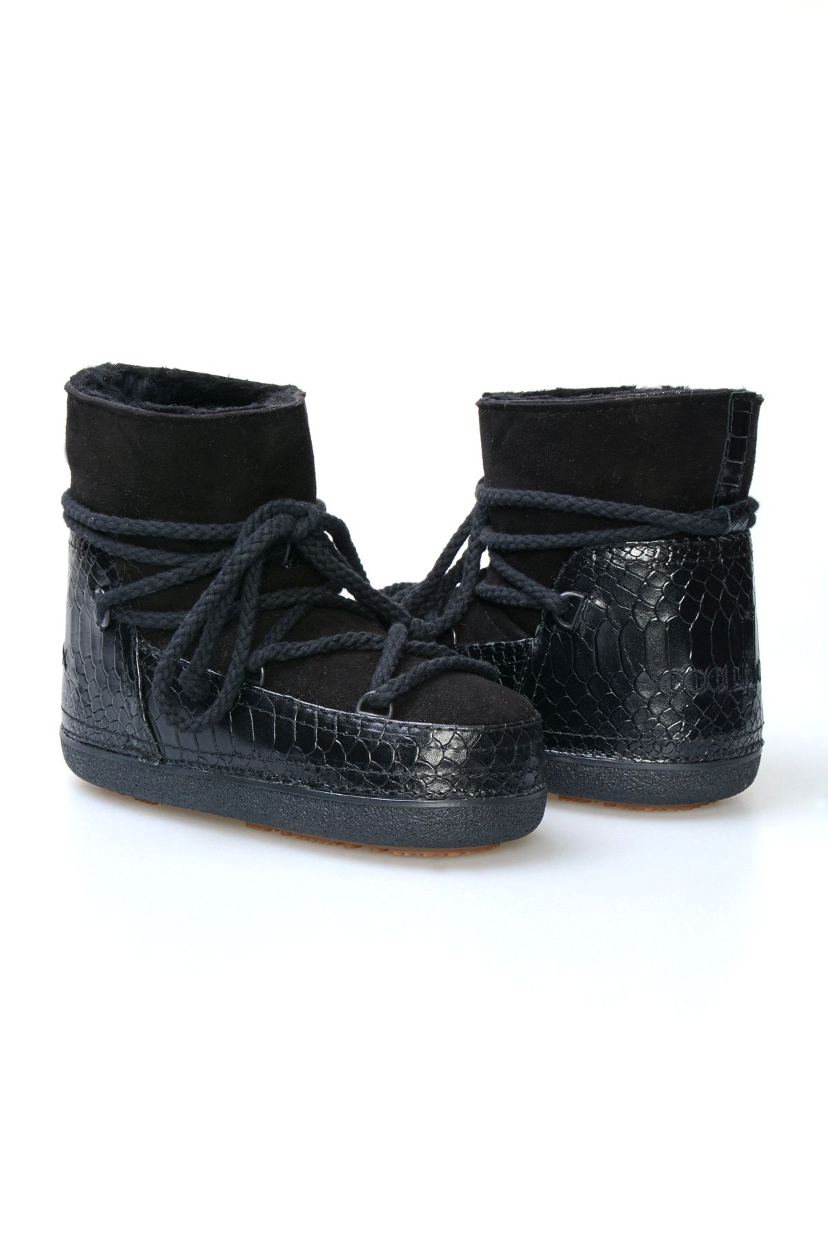 Cool Moon Genuine Sheepskin Women's Snow Boots 251010 Black