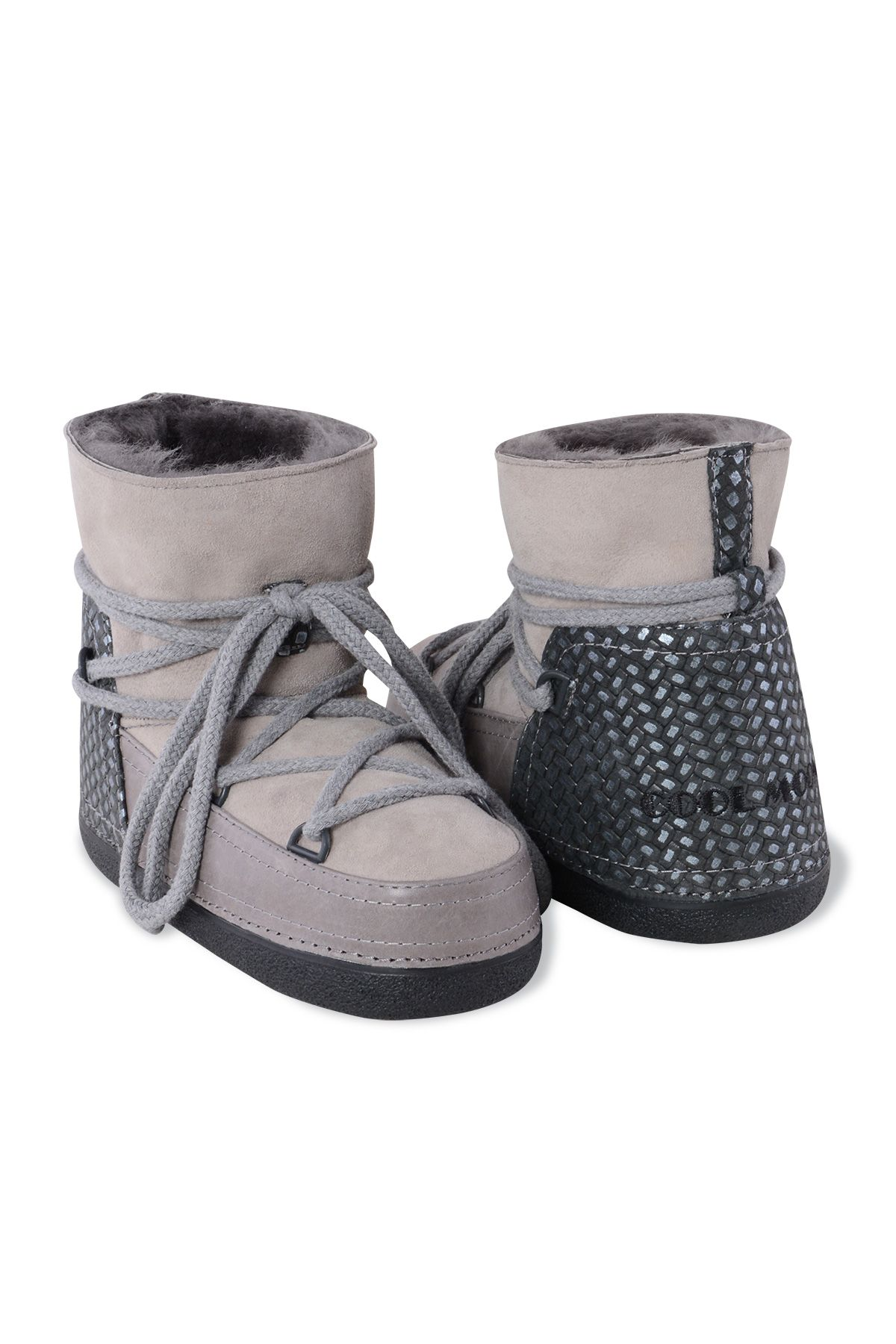 Cool Moon Genuine Leather & Shearling Women's Snowboots 251024 Gray
