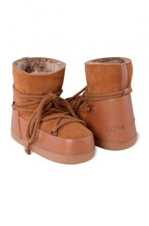 Cool Moon Genuine Leather & Shearling Women's Snowboots 251026 Ginger