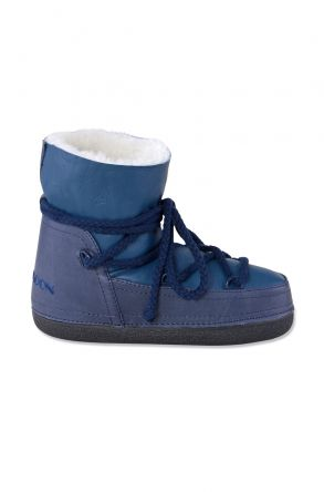 Cool Moon Genuine Leather & Shearling Women's Snowboots 251030 Navy blue