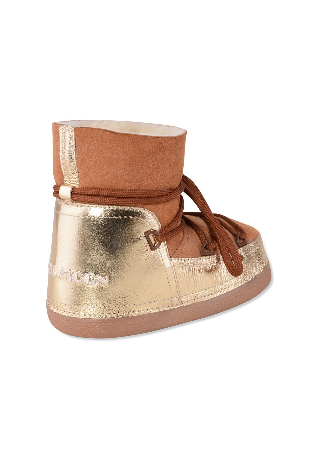 Cool Moon Genuine Leather & Shearling Women's Snowboots 251034 Ginger