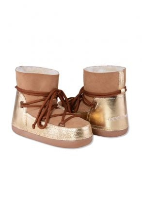 Cool Moon Genuine Leather & Shearling Women's Snowboots 251034 Sand-colored