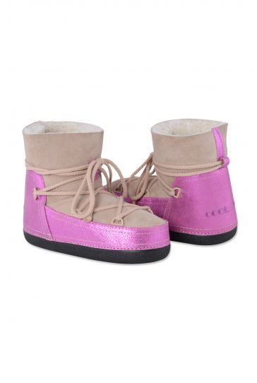 Cool Moon Genuine Leather & Shearling Women's Snowboots 251038 Pink