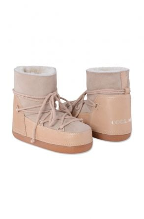 Cool Moon Genuine Leather & Shearling Women's Snowboots 251040 Beige