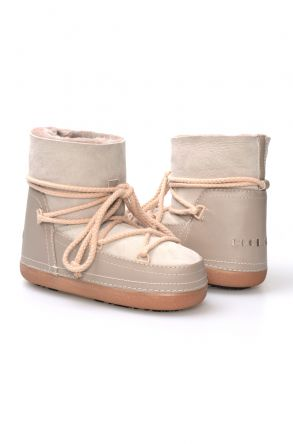 Cool Moon Genuine Leather & Shearling Women's Snowboots 251040 Gray