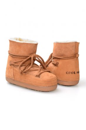 Cool Moon Genuine Leather & Shearling Women's Snowboots 251040 Ginger