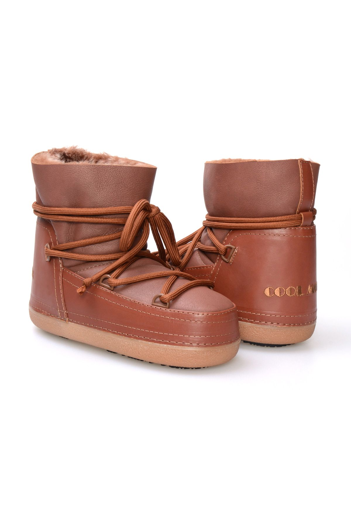 Cool Moon Women's Sheepskin Boots 251046 Brick-red