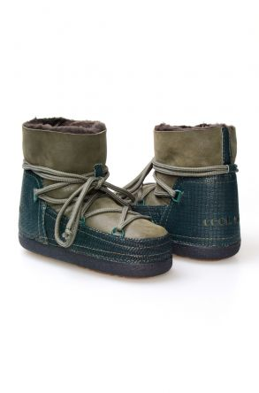 Cool Moon Women's Shearling Snow Boots 251052 Green