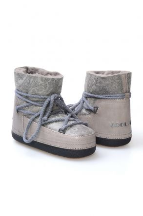 Cool Moon Women's Sheepskin Snow Boots 251092 Gray