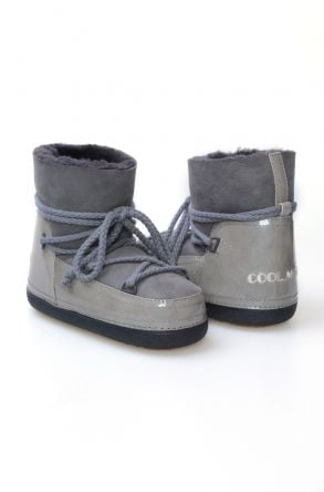 Cool Moon Women's Shearling Snow Boots 251098 Gray