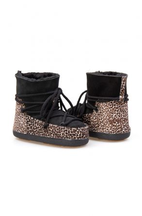 Cool Moon Genuine Sheepskin Women Snow Boots 251109 Black