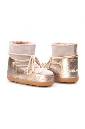 Cool Moon Genuine Sheepskin Women Snow Boots 251111 Gray