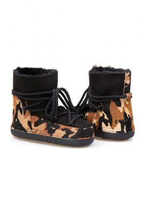 Cool Moon Genuine Sheepskin Women's Snow Boots 251113 Black