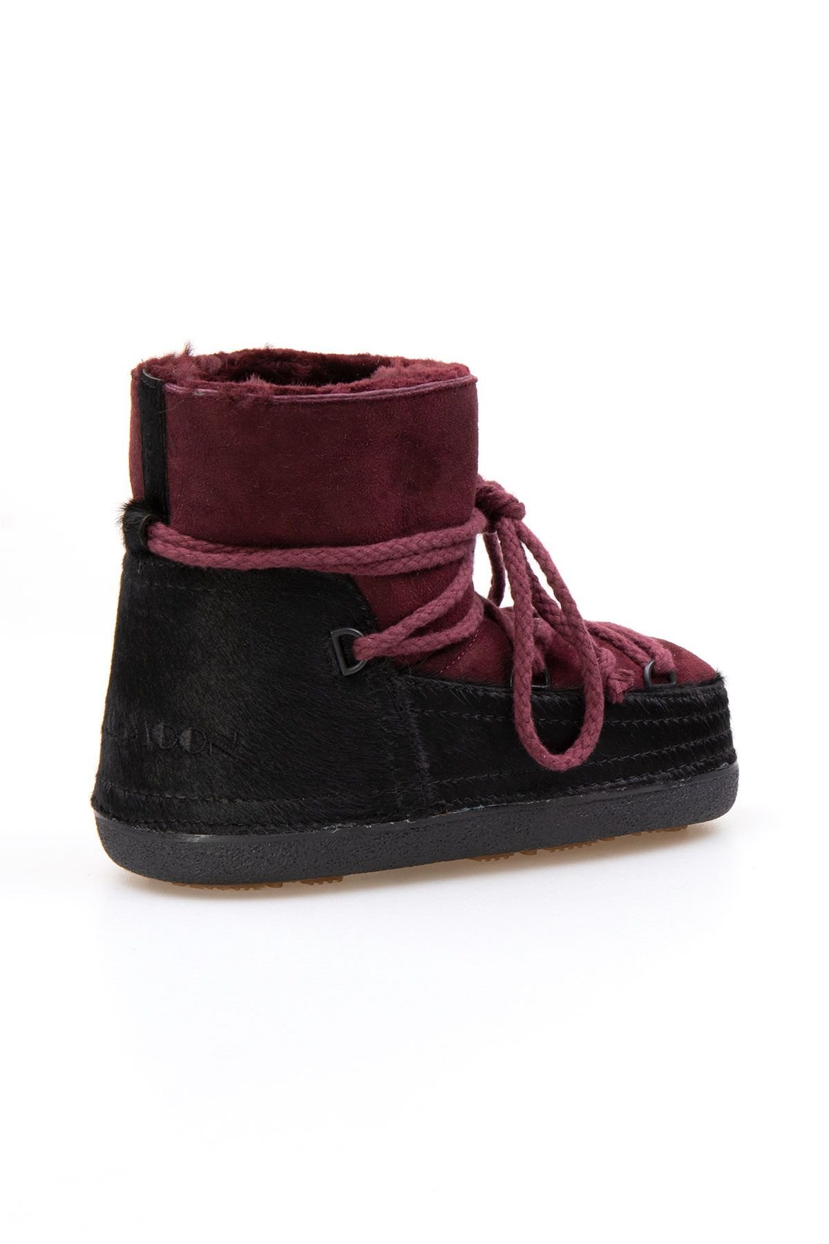 Cool Moon Genuine Sheepskin Women's Snow Boots 251114 Claret red