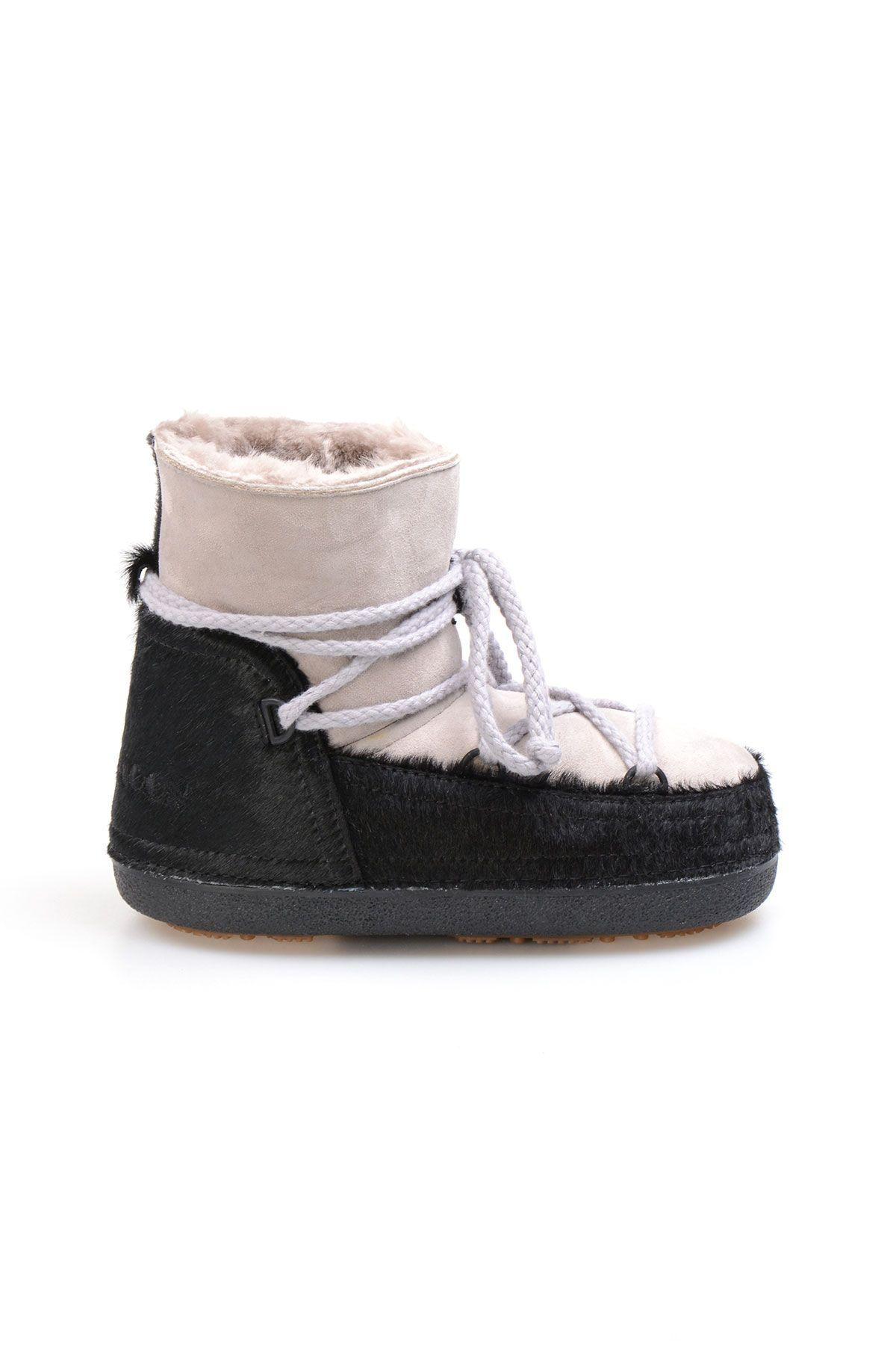 Cool Moon Genuine Sheepskin Women's Snow Boots 251114 Gray