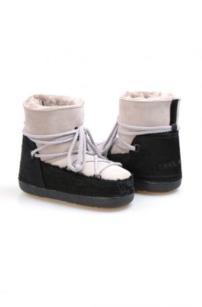 Cool Moon Genuine Sheepskin Women's Snow Boots 251114 Gray