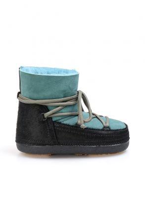 Cool Moon Genuine Sheepskin Women's Snow Boots 251114 Green