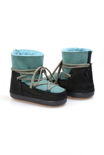 Cool Moon Genuine Sheepskin Women's Snow Boots 251114 Green