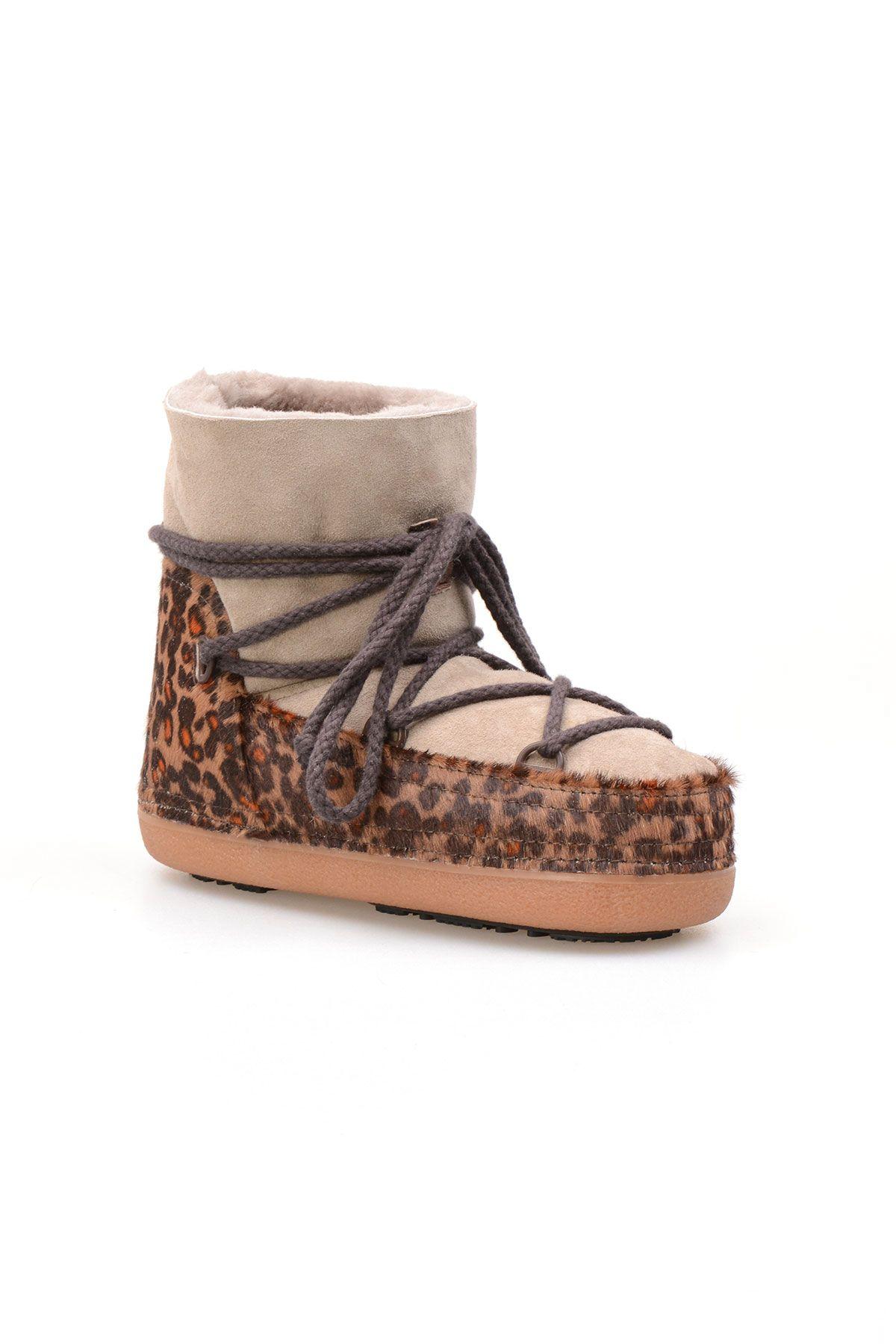 Cool Moon Genuine Sheepskin Women Snow Boots 251115 Gray