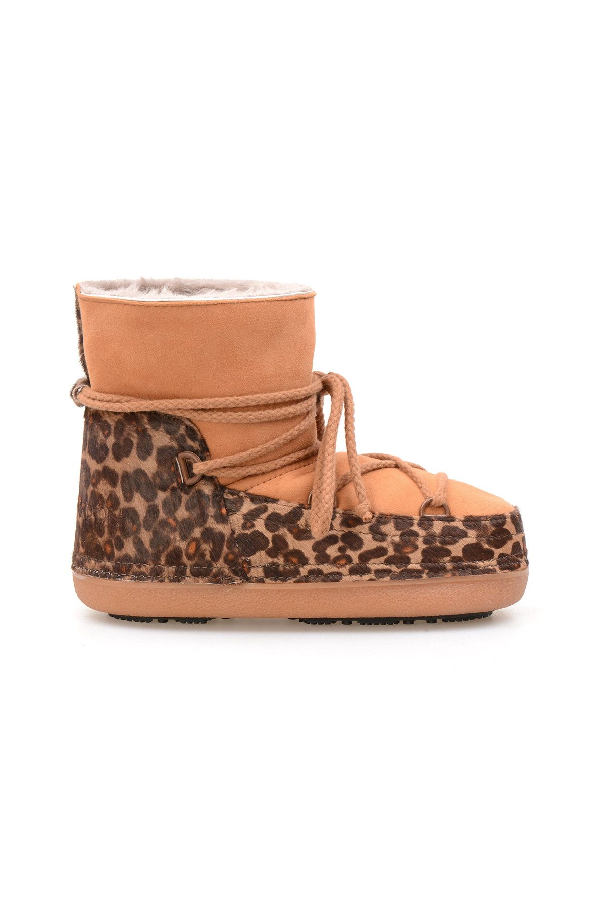 Cool Moon Genuine Sheepskin Women Snow Boots 251115 Ginger