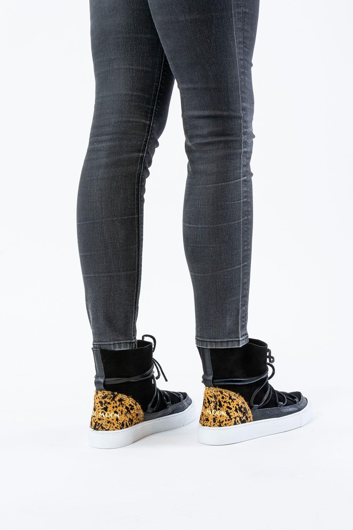 Cool Moon Genuine Leather Women Sneaker CM1012 Black