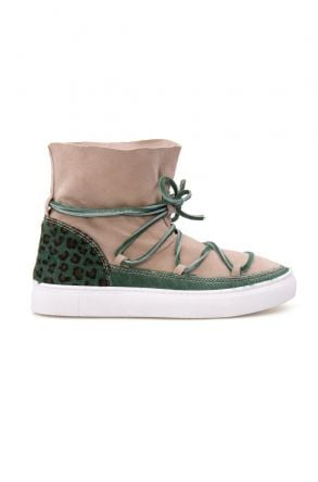 Cool Moon Genuine Leather Women Sneaker CM1013 Green
