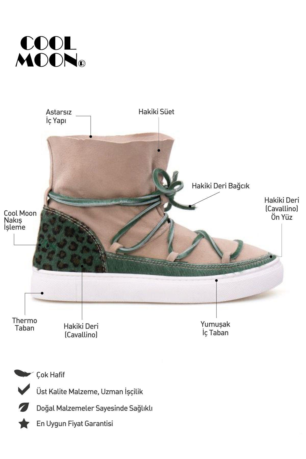 Cool Moon Genuine Leather Women Sneaker CM1013 Green