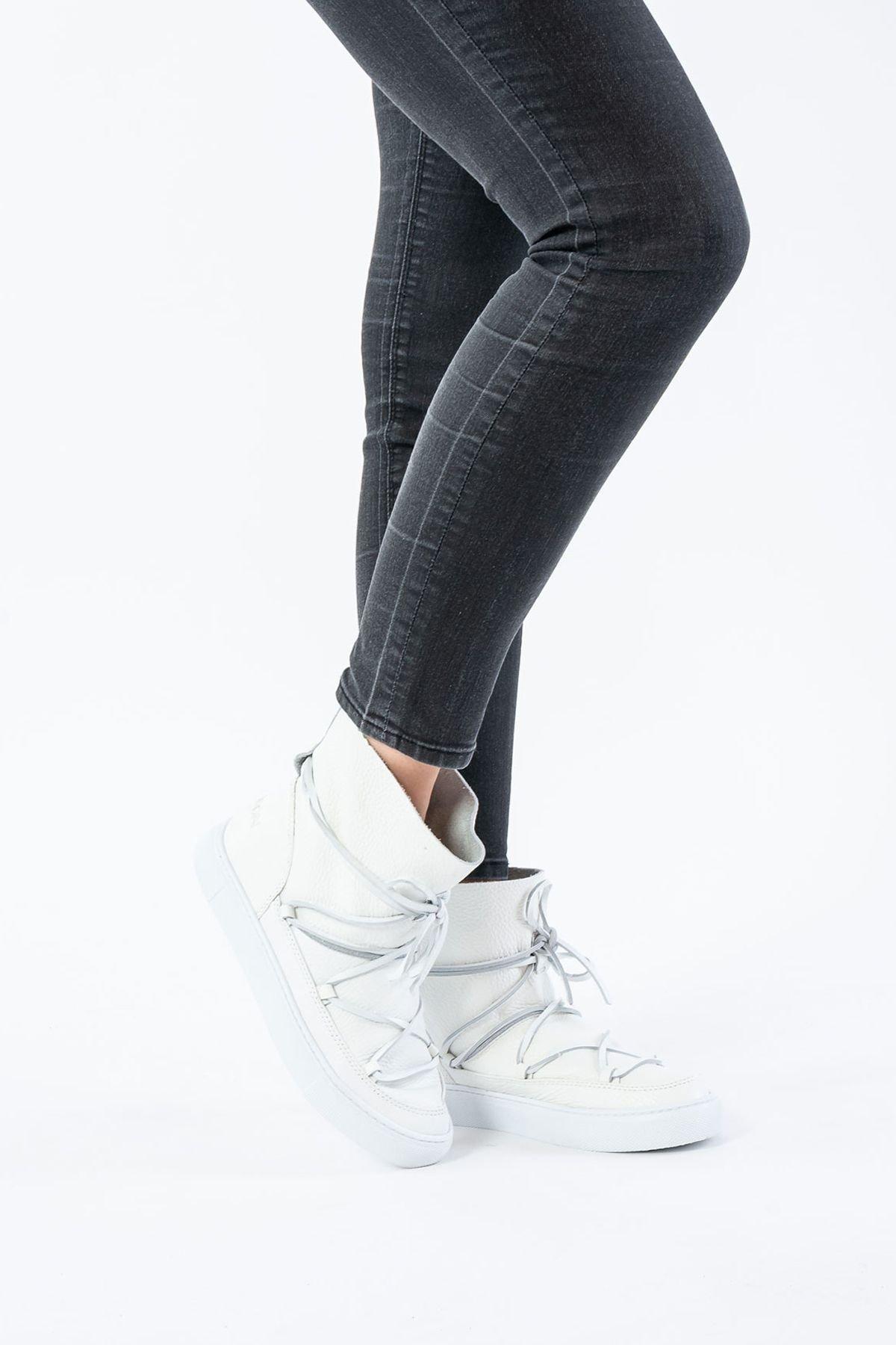 Cool Moon Genuine Leather Women Sneaker CM1018 Beige