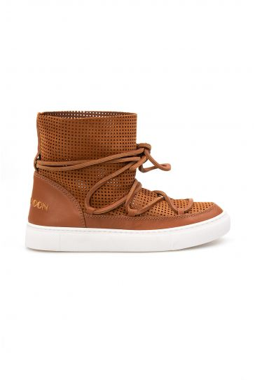 Cool Moon Genuine Leather Women's Summer Boots CM1001 Ginger