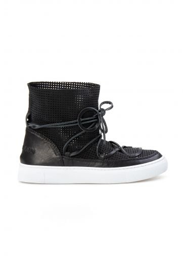 Cool Moon Genuine Leather Women's Summer Boots CM1003 Black