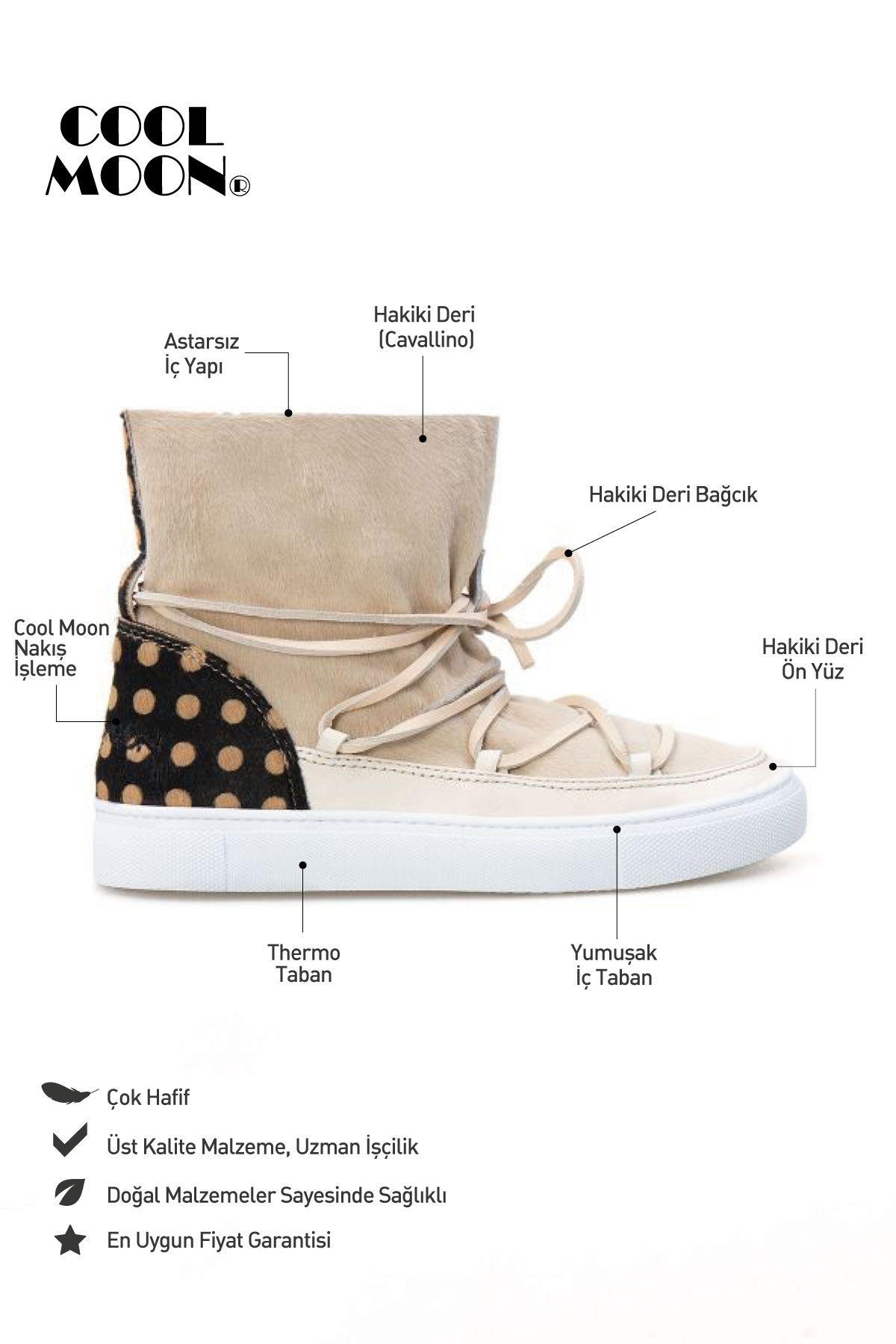 Cool Moon Genuine Leather Women Sneaker CM1016 Cream