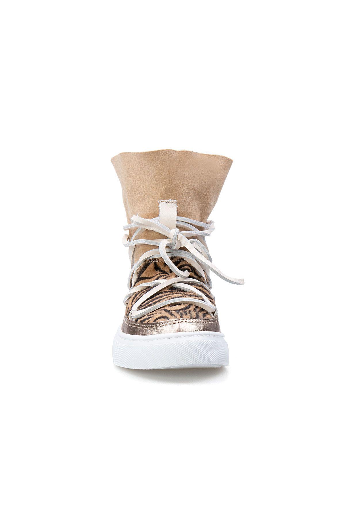 Cool Moon Genuine Leather Women Sneaker CM1017 Beige