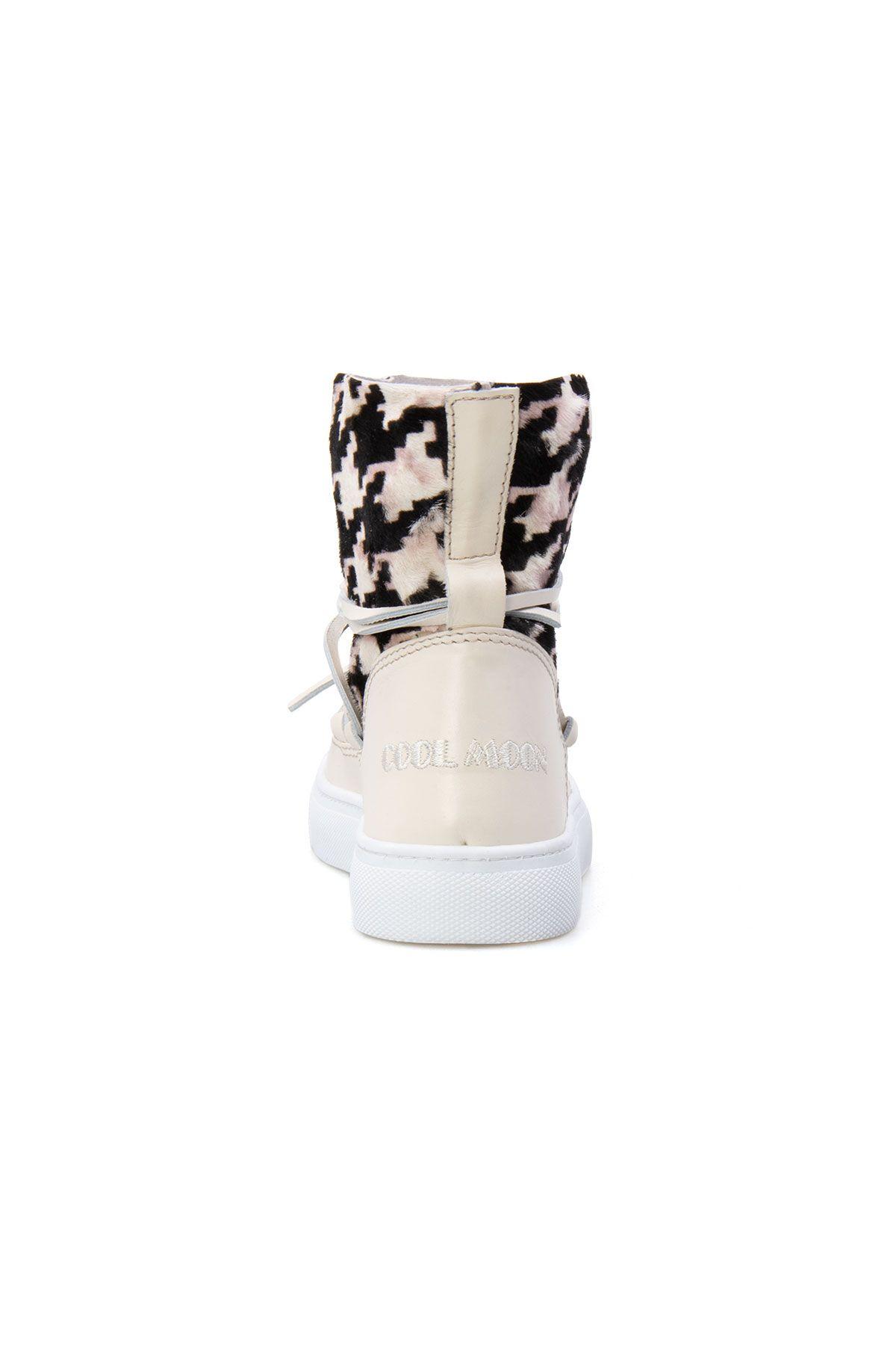 Cool Moon Genuine Leather Women's Sneaker CM1030 Beige