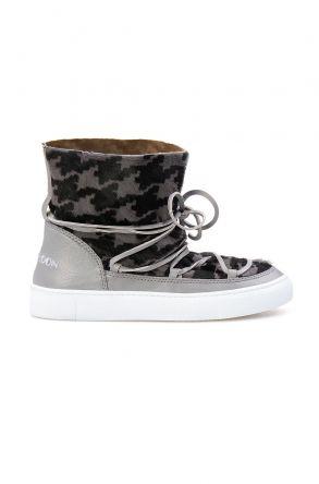 Cool Moon Genuine Leather Women's Sneaker CM1031 Gray
