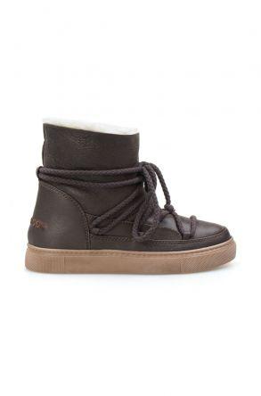 Cool Moon Hakiki İçi Kürk Bayan Sneaker 355050 Kahve