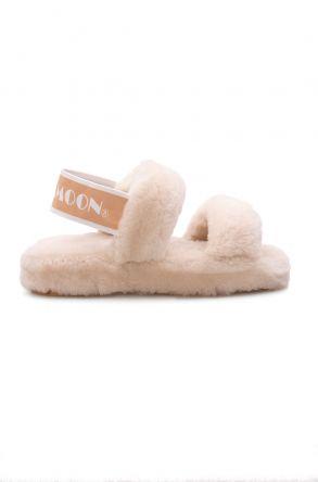 Cool Moon Genuine Sheepskin Women's Slippers 213001 Beige