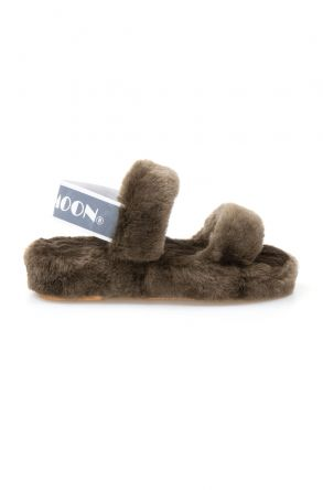 Cool Moon Genuine Sheepskin Women's Slippers 213001 Khaki