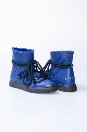 Cool Moon Hakiki Kürk Bayan Sneaker 355000 Lacivert