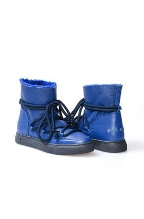 Cool Moon Genuine Sheepskin Women Sneaker 355000 Navy blue
